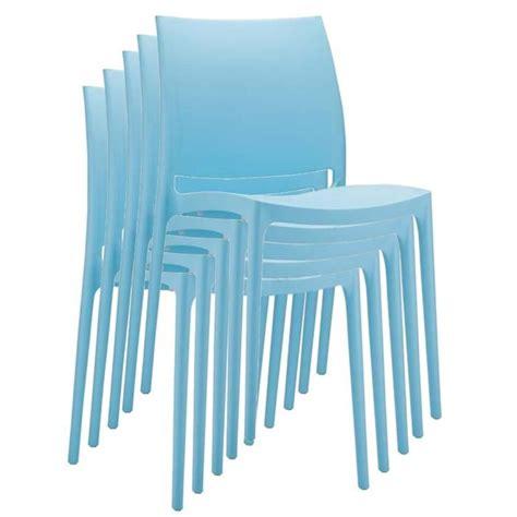 chaise de jardin plastique pas cher chaise de jardin empilable en plastique bleu clair dim h81 x p50 x l44 cm achat vente