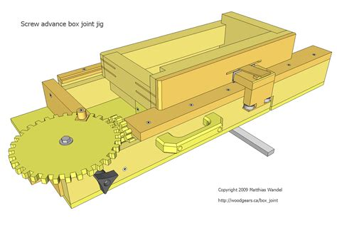 woodworking plans box joint jig plans diy