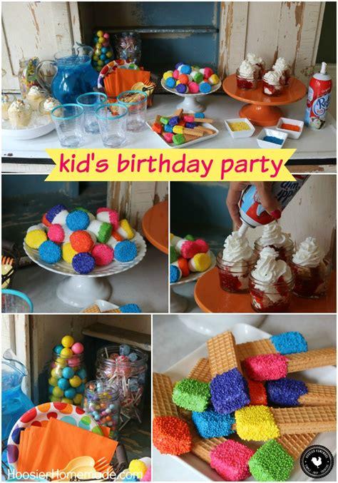 Easy Kid's Birthday Party Ideas Hoosier Homemade
