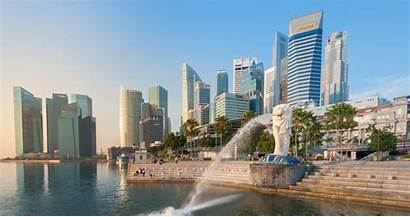 Singapore 4k Merlion Marina Fountain Bay Ultra
