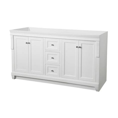 foremost naples 60 in w x 21 3 4 in d bath vanity cabinet only in white nawa6021d the home depot