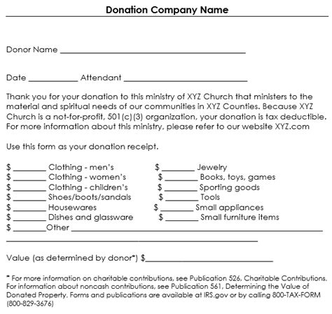 non profit donation receipt template donation receipt template 12 free sles in word and excel