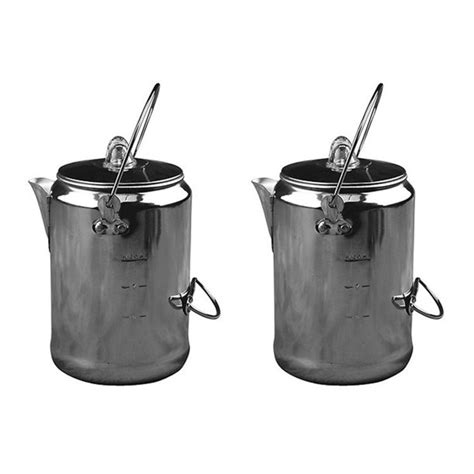 According to people's preferences, coleman came people can enjoy the campsite sunrise and sunset with fresh coffee from coleman's camping coffee maker. (2) COLEMAN Camping 9-Cup Rust Resistant Aluminum Coffee ...