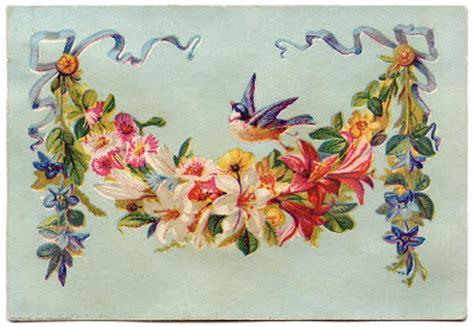 clip art floral garland  bird  graphics fairy