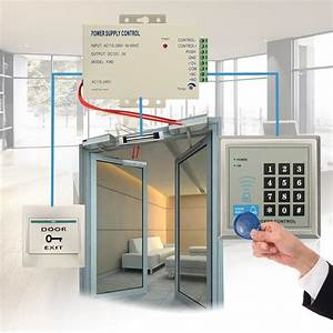 Rfid Kit Electric Door Lock Magnetic Access Control Id Password Safty System Em
