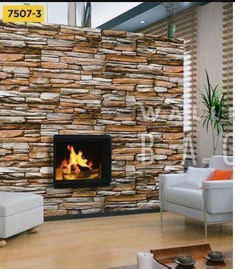 jual wallpaper dinding sticker motif batu alam  lapak