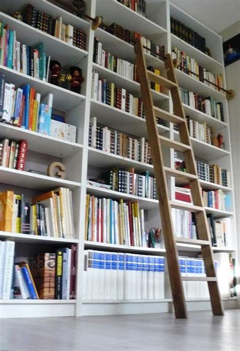 bibliothèque bureau intégré une échelle de bibliothèque billy bidouilles ikea