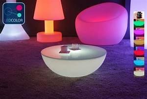 Table Basse Galet Led : table basse lumineuse led multicolore sans fil moon s ~ Melissatoandfro.com Idées de Décoration