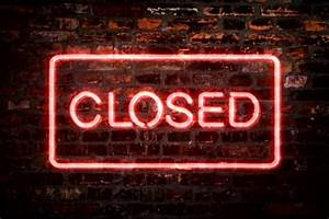 Neon Sign Closed Store Video Clip