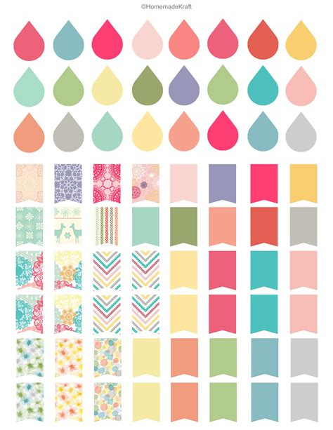 Free Printable Planner Stickers Template