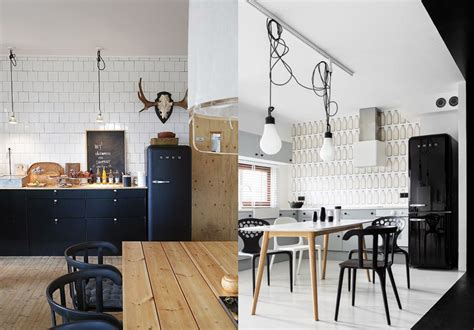 photo cuisine retro une cuisine rétro avec le frigo smeg