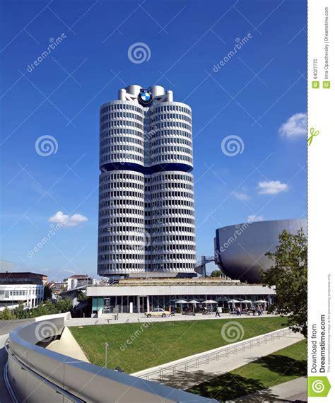 bmw germany bmw headquarters munich germany editorial photo