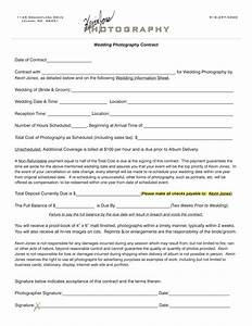 wedding photography contract kevin jones photography With free wedding contract forms