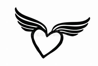 Lost Wings Heart Valentine Icon Sign Drawing