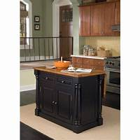 black kitchen island Home Styles Americana Distressed Cottage Oak Kitchen Island With Drop Leaf-5004-94 - The Home Depot