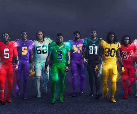 nfl color rush uniforms unveiled   teams wont