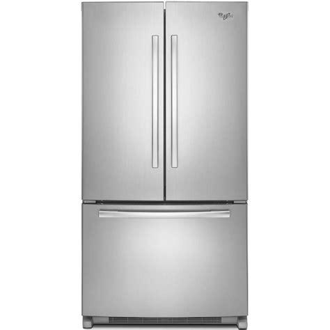 Whirlpool 36 In W 252 Cu Ft French Door Refrigerator