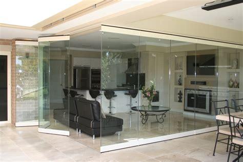 Trennwand Glas Wohnzimmer by Designer Wohnzimmer Falttueren Innen Glas Kanten Weiss