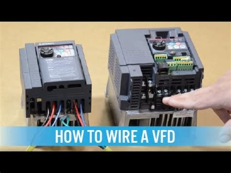How Wire Vfd Variable Frequency Drive Youtube