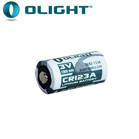 pile lithium 3v pile cr123a 1600mah 3v lithium olight pour le torche
