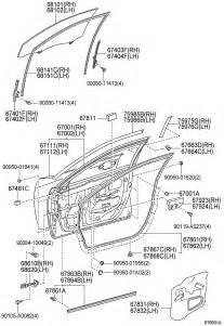 2012 Toyota Camry Door Panel Parts