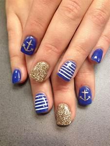 Nautical nails! The nail lounge | Nail Designs | Pinterest ...