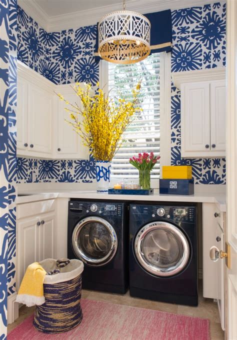 Bold Color Christopher Kennedy Modernism Showhouse by Tricia S One Room Challenge Favorites Laundry Room