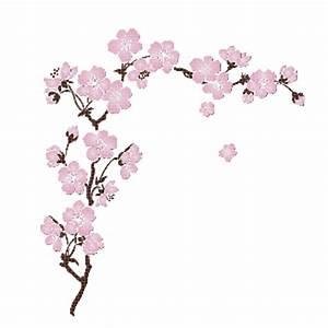 Dessin Fleur De Cerisier Japonais Noir Et Blanc : branche de cerisier en fleur ~ Melissatoandfro.com Idées de Décoration