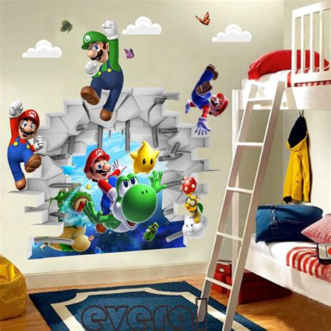 chambre mario bros aliexpress com buy diy mario bros wall stickers