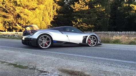 pagani huayra bc on mount etna, sicilia, italy side angle ...