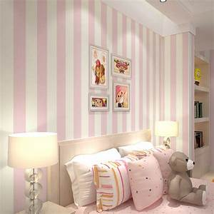 Pink Stripe Wall Paper for Walls Vertical striped ...
