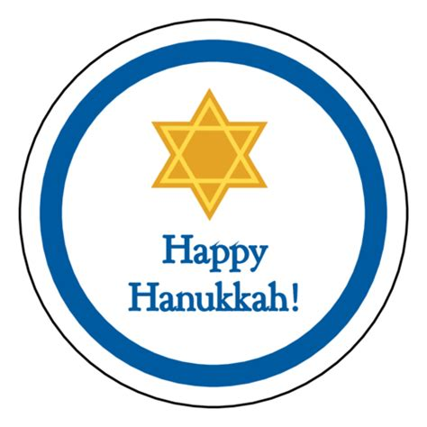 happy hanukkah sticker label label templates ol