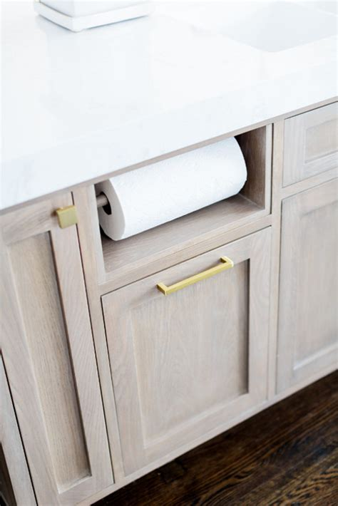 cabinet paper towel holder white kitchen with cambria quartz countertop home bunch