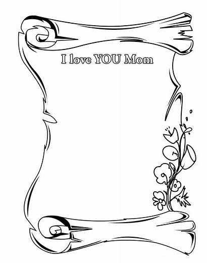 Mom Card Printable Mother Greeting Coloring Pages