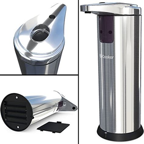 soap dispenser automatic kitchen touchless sensor stainless steel wall mount oz