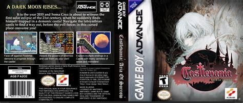 castlevania aria  sorrow game boy advance box art cover