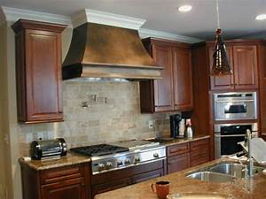 Kraftmaid kitchen with custom hood from cardinal for Kitchen hoods
