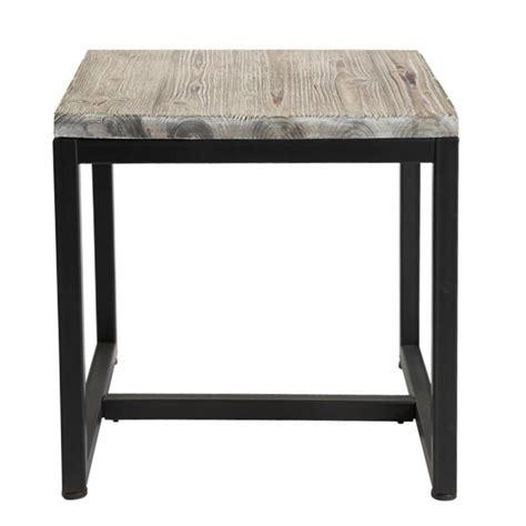 bout de canapé noir mesa auxiliar industrial de metal negra an 45 cm