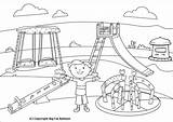 Park Swing Coloring Playing Clipart Children Pages Playground Slide Drawing Outline Drawings Kid Diagram Classroom Sketch Muslim Activities Getdrawings Getcolorings sketch template