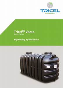 Tricel Vento Septic Tank Manual