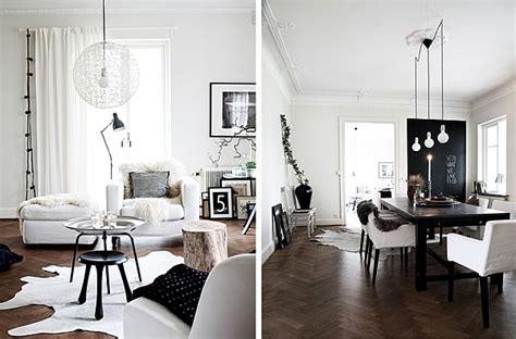 scandinavian house designed  simple black  white hues
