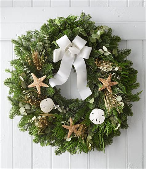 contemporary christmas wreaths coastal evergreen wreath contemporary wreaths and garlands by l l bean