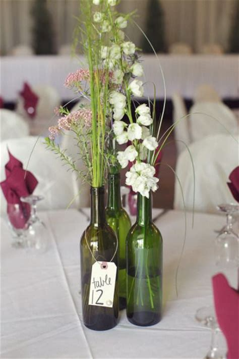 wedding decorative bottles wine bottle centerpieces
