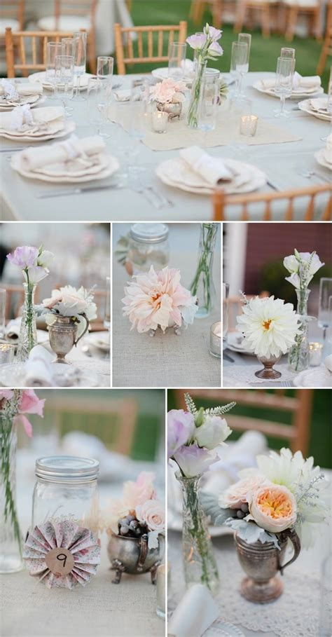 shabby chic wedding table centerpieces shabby chic beach wedding ideas from this that vintage rentals round table settings wedding