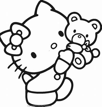 Kitty Hello Coloring Pages Colouring Printable Sheets