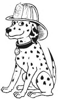 Fireman Dog Coloring Page
