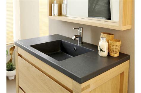 meuble sous vasque en bois chene clair novomeuble