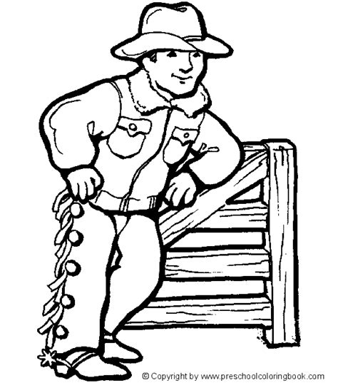Cowboy Pictures To Color by Www Preschoolcoloringbook Western Coloring Page