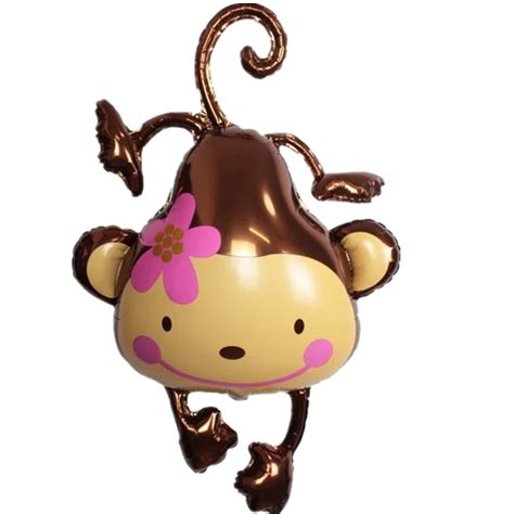 balloon monkey lovely cartoon wear a flower monkey foil balloon animal balloons birthday party decoration kids