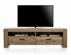 Meuble Tv 180 Cm : meuble tv santorini 2 tiroirs 2 niches 180 cm heth ~ Teatrodelosmanantiales.com Idées de Décoration